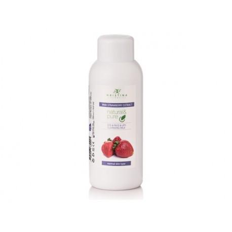 Тоалетно мляко за лице с екстракт от ягода